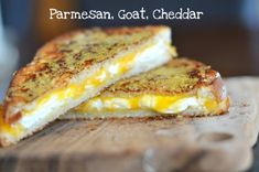 Introducing the ultimate grilled cheese. A crispy parmesan-crusted sandwich, filled with a mix of melted cheddar and goat cheese. But because we're using two naturally low-fat cheeses (parmesan and goat) along with a reduced-fat cheddar, this sandwich has a ton of flavor without the matching calorie count. Enjoy it with a bowl of yesterday's offering, …