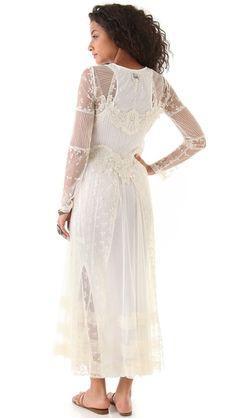 Haute Hippie Long Lace Dress - back