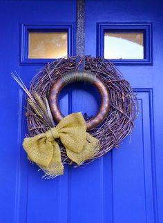 rustic glam fall wreath, crafts, seasonal holiday decor, wreaths