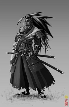 back to the concept stage (= character - grey wolf legendary samurai, servant of the king forgot to mention on last page, thanks for those that did some fan art for me! that was really cool! but it...