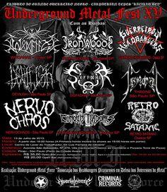Underground Metal Fest, um dos mais respeitados festivais do underground nacional.