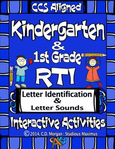 RTI - Letter Identification and Letter Sounds. by Studious Maximus Kindergarten Classroom Management, Kindergarten Reading, Student Learning, Differentiated Kindergarten, Sight Word Activities, Interactive Activities, Classroom Activities, Reading Intervention, Reading Skills