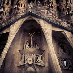 Crucifixion Sagrada Familia detail - @ibbanez- #webstagram
