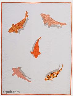Ripples quilt, in: Modern Appliqué Illusions by Casey York.