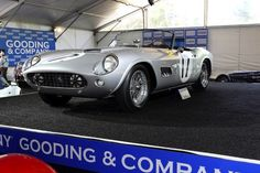 Most expensive cars sold at auction #23:  1959 Ferrari 250 LWB California Spider Competizione - $7.26 Million This Ferrari—another of the Ferrari 250s, but one designed for competition—was sold by legendary automobile auction house Gooding & Company at their Pebble Beach auction in 2010. This was a record price for this particular rare make.