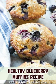 Blueberry muffins are very healthy, made with whole wheat flour, and oatmeal to add nutrients. Blueberry muffins are very healthy, made with whole wheat flour, and oatmeal to add nutrients. Oatmeal Blueberry Muffins Healthy, Whole Wheat Blueberry Muffins, Homemade Blueberry Muffins, Healthy Muffins, Blue Berry Muffins, Low Calorie Muffins, Gluten Free Blueberry Muffins, Healthy Muffin Recipes, Healthy Baking