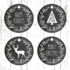 Christmas Chalkboard Gift Tags Printables by bbirw Christmas Chalkboard, Christmas Labels, Noel Christmas, Christmas Wrapping, Christmas Printables, Christmas Crafts, Christmas Decorations, Rustic Christmas, Christmas Gift Tags Printable Free