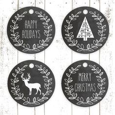 Christmas Chalkboard Gift Tags Printables