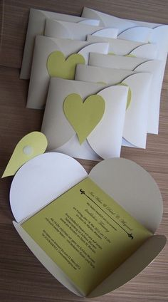 Invitation card heart - wedding cards from Kartenmanufaktur-Arndt - wedding cards . Invitation card heart - wedding cards from Kartenmanufaktur-Arndt - wedding cards - wedding - DaWanda STEP-BY-STEP INSTR. Diy Wedding Programs, Wedding Cards, Invitation Cards, Party Invitations, Diy Paper, Paper Crafts, Diy Cards, Wedding Stationery, Diy Gifts