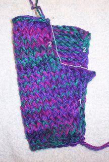 loom knit easy fingerless gloves