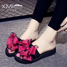 aeddfb5ec5fe72 Online Shop 2017 New Summer bohemia Women sandals slippers fashion rainbow  leopard muffin sandals home shoes wedge heels beach sandals