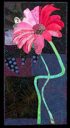 Flower quilt by Pamela Allen - fractured quilt challenge - posted by Tomme at Flickr