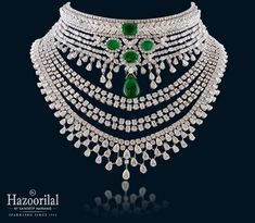 Shine and sparkle in designer diamond necklaces from Hazoorilal Jewellers in GK, Delhi. Visit today for the exquisite collection of diamond necklace designs! Jewelry Design Earrings, Emerald Jewelry, Diamond Jewelry, Jewellery Designs, Lotus Jewelry, Royal Jewelry, Necklace Designs, Jewelry Accessories, Hazoorilal Jewellers