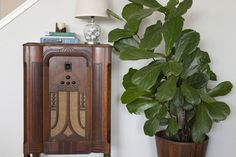 I would have to say my favorite find in our space is our 1930s Philco Radio. The best part? We were able to install Bluetooth, so now it can stream music from laptops or iPhones. It's an especially fun feature for parties – we love surprising our friends when we turn on our vintage radio with our phones