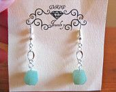 Green Aventurine Quartz Earrings...$15