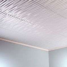 fasade dunes vertical matte white 2 feet x 2 feet glue up ceiling tile sample - White Ceiling Tiles