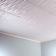 Fasade Dunes Vertical Matte 2-feet x 2-feet Glue-up Ceiling Tile