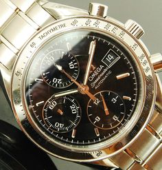 OMEGA SPEEDMASTER DATE 3513.50 AUTOMATIC CHRONOGRAPH 1 YR WARRANTY PERFECT