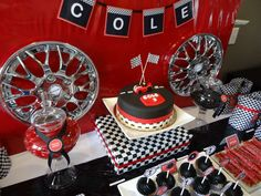 Race Cars Birthday Party Ideas   Photo 12 of 21   Catch My Party