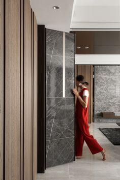 i love clothes Apartment Interior, Interior Walls, Luxury Interior, Modern Interior, Feature Wall Design, Wall Panel Design, Door Design, Replacing Interior Doors, Wardrobe Design