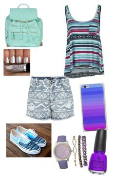 """""""purple pop"""" by fasionrebel ❤ liked on Polyvore featuring Morgan, Billabong, Vans, Atmos&Here and China Glaze"""
