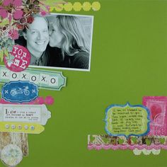 You and Me - Nancy O'Dell Love Mini Display Accents Scrapbooking Layout