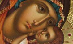 «Οι Χαιρετισμοί στην Παναγία, κρύβουν το μυστικό της χαράς» Byzantine Icons, Byzantine Art, Religious Icons, Religious Art, Jesus And Mary Pictures, Russian Icons, Jesus Art, Biblical Art, Renaissance Paintings