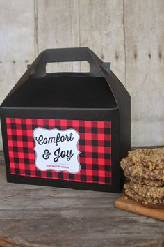 10 Gable Boxes in Buffalo Plaid baking baked by HHpaperCO