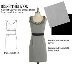 Website that finds sewing patterns to match dresses from a store. When I have money and a sewing machine...