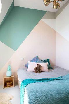 Diseños geométricos en dormitorios