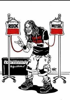 Rock and metal is life Blood Hard Rock, Metal Bands, Rock Bands, Metallica, Russian Bear Dog, The Beatles, Metal Meme, Rock Y Metal, Metal Health