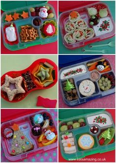 Christmas Food: 6 Simple Themed Lunch Ideas 6 Ideas for Simple Christmas Themed Bento Lunches – Suprise your kids with some festive fun in their lunch box this December Christmas Party Food, Xmas Food, Christmas Breakfast, Christmas Cooking, Christmas Treats, Christmas Lunch Ideas, Kids Packed Lunch, Kids Lunch For School, Lunch Snacks