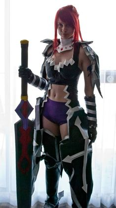 AMAZING cosplay ll FairyTail II Erza Scarlet in Black Wing Armor by vikkiievoltage