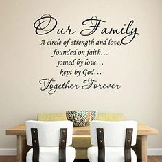 our family together forever quotes wall stickers for living room home decoration removable decals diy vinyl art Diy Wall Stickers, Wall Decals, Together Forever Quotes, Family Wall Quotes, Wall Sayings, Love Wall Art, Black Decor, House Rooms, Room Decor