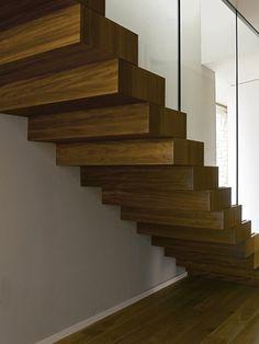 Wooden minimalist staircase