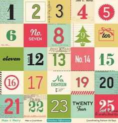Hi everyone, Mou here with today's tutorial. Recently at a CKU event, I saw some super cute projects using baking sheets. Inspired by those, I made my own Christmas Advent Calendar using the October Aternoon Make It Merry collection. Christmas Makes, Christmas Time, Christmas Crafts, Xmas, Christmas Ideas, Holiday Ideas, Christmas Countdown, October Afternoon, Printable Numbers