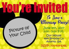 A Very Mickey Invitation