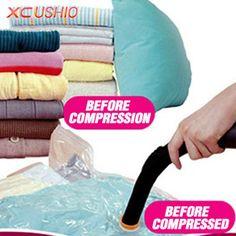 1 шт./упаковка, вакуумные пакеты для хранения вещей, вакуумный мешок для хранения одежды, вакуумный пресс   мешок, 60 * 50 см / 80 * 60 см / 100 * 70 см / 110 * 80 см, быстрая доставка купить на AliExpress