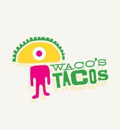 Ripe Inc's Restaurant Logo & Signage for Waco's Tacos - Albuquerque, NM. www.ripeinc.com