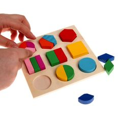 Kids Baby Wooden Puzzle Toys Colorful Geometry Wood Puzzle Montessori Toys Early Learning Educational Toys for Children Baby Boy Toys, Best Baby Toys, Wooden Baby Toys, Best Kids Toys, Baby Kids, Children Toys, Kids Fun, Educational Baby Toys, Learning Toys