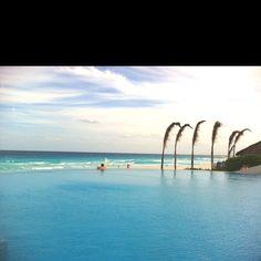 Infinity pool view of the ocean- Live Aqua Cancun