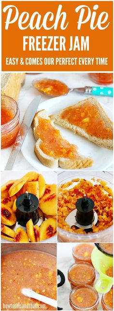 Freezer Jam- Easy & Come Out Perfect Every Time Easy , quick and no canning involved! Enjoy peach jam all winter long with this freezer jam recipe.Easy , quick and no canning involved! Enjoy peach jam all winter long with this freezer jam recipe. Brownie Desserts, Oreo Dessert, Mini Desserts, Coconut Dessert, Sweet Desserts, Freezer Jam Recipes, Jelly Recipes, Canning Recipes, Freezer Meals