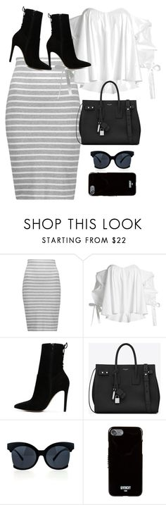 """Untitled #10698"" by katgorostiza ❤ liked on Polyvore featuring Bailey 44, Caroline Constas, ALDO, Yves Saint Laurent and Givenchy"