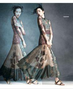 "Ginta Lapina & Fei Fei Sun Star in Neiman Marcus ""Art of Fashion"" Spring 2014 Ads/ Valentino Fashion Shoot, Love Fashion, Editorial Fashion, Fashion Art, Spring Fashion, Spring 2014, Spring Summer, Summer 2014, Fei Fei Sun"