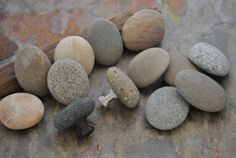 Beach and River Rock Cabinet Knobs Handcrafted by aimeesrockworks, $8.25