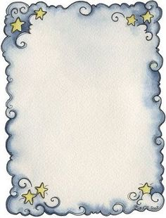 Anjos - Galu - Picasa Web Albums - blue swirls and stars frame Page Borders Design, Border Design, Printable Frames, Printable Paper, Borders And Frames, Borders For Paper, Doodle Borders, Paper Frames, Writing Paper