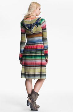 Free People 'Serape Stripe' Hooded Cardigan | Nordstrom