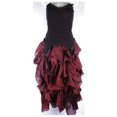 Gothic Burgundy Lace Gown! Prom! Wedding! Steam Punk! Bridesmaid!... ❤ liked on Polyvore