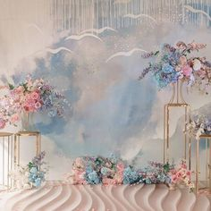 Useful Wedding Event Planning Tips That Stand The Test Of Time Wedding Backdrop Design, Wedding Stage Decorations, Decor Photobooth, Baby Blue Weddings, Event Decor, Wedding Events, Serenity, Backdrops, Wedding Planning