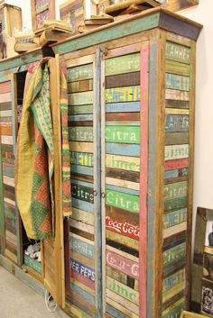 armoire made from old pop crates, very cool!